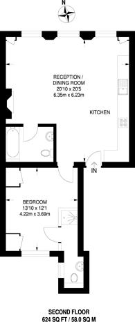 Large floorplan for Elvaston Place, South Kensington, SW7