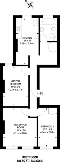 Large floorplan for High Street Wimbledon, Wimbledon Village, SW19