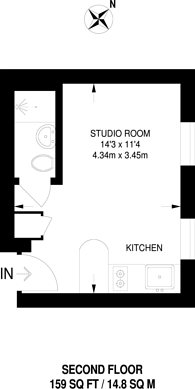 Large floorplan for Finchley Road, Hampstead, NW3