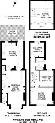 Large floorplan for Prothero Road, Fulham, SW6