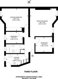 Large floorplan for Queens Road, Richmond, TW10