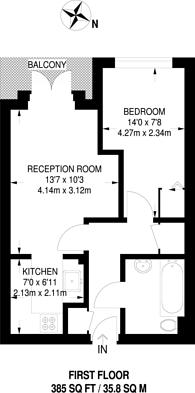 Large floorplan for Cedar Close, West Dulwich, SE21