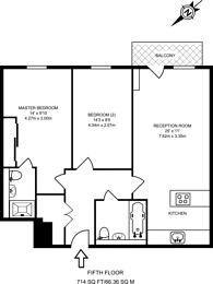 Large floorplan for George Hudson Tower, Stratford, E15