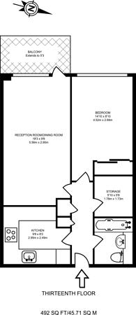 Large floorplan for Leather Lane, Farringdon, EC1N