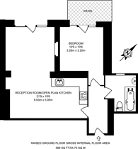 Large floorplan for Rock Bank Hotel, East Dulwich, SE22
