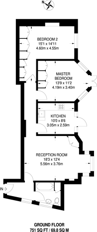 Large floorplan for Heathfield Park, Willesden Green, NW2
