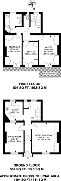 Large floorplan for Bessborough Street, Pimlico, SW1V