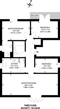 Large floorplan for Saunders Ness Road, Canary Wharf, E14