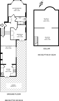 Large floorplan for Rollscourt Avenue, Herne Hill, SE24
