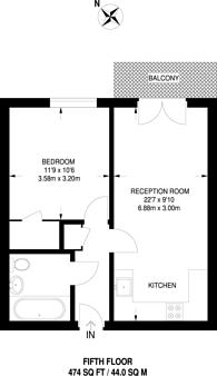 Large floorplan for Guildford Road, Woking, GU22