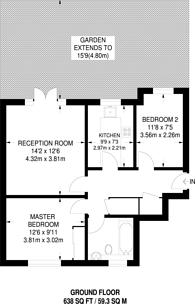 Large floorplan for St James's Drive, Wandsworth Common, SW12