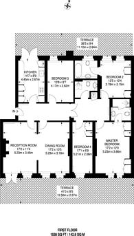 Large floorplan for Kensington High Street, High Street Kensington, W8