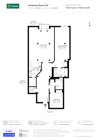 Large floorplan for Port East, Canary Wharf, E14