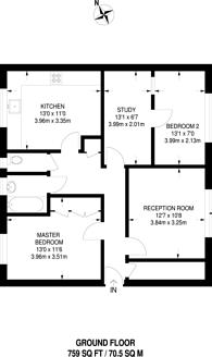 Large floorplan for Bramall Close, Stratford, E15