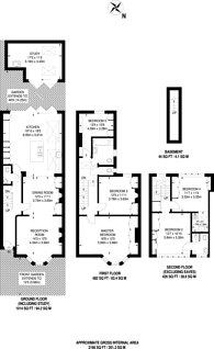 Large floorplan for Mayfield Road, Crouch End, N8