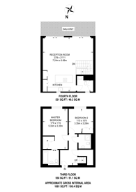 Large floorplan for Amberley Waterfront, Little Venice, W9