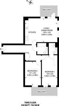 Large floorplan for Frampton Park Road, South Hackney, E9