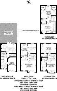 Large floorplan for Barker Close, Richmond, Kew, TW9