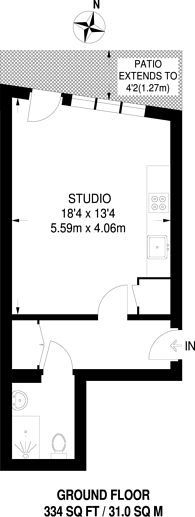 Large floorplan for Star Road, Barons Court, W14