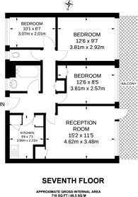 Large floorplan for Angell Road, Brixton, SW9