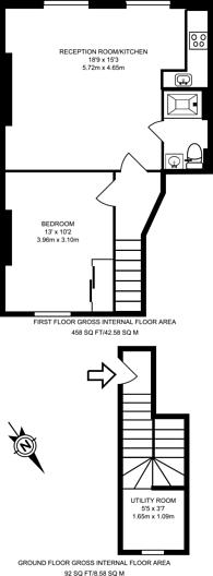 Large floorplan for Rosslyn Mews, Hampstead, NW3
