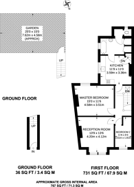 Large floorplan for Atheldene Road, Earlsfield, SW18