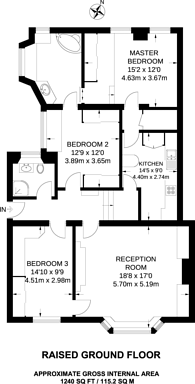 Large floorplan for George Street, Marylebone, W1H