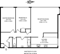 Large floorplan for Castlemaine, Battersea, SW11