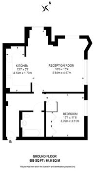 Large floorplan for Matthew Parker Street, Westminster, SW1H