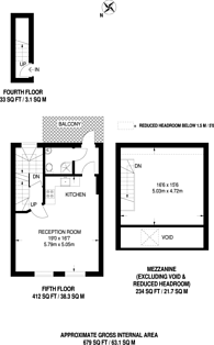 Large floorplan for Archer Street, Soho, W1D