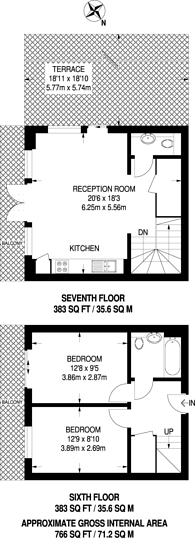 Large floorplan for Metcalfe Court, Greenwich, SE10