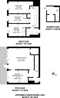 Large floorplan for Southwyck House, Brixton, SW9