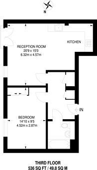 Large floorplan for Manor Road, Stoke Newington, N16