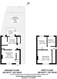 Large floorplan for Downing Avenue, Guildford, GU2