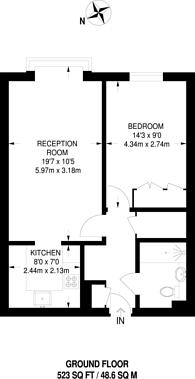Large floorplan for Durham Avenue, Bromley, BR2