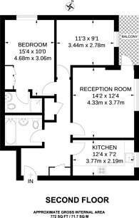 Large floorplan for Rowantree Road, Enfield, EN2