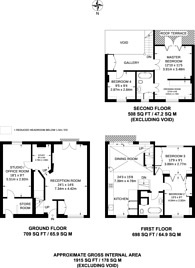 Large floorplan for Rosemont Road, South Hampstead, NW3