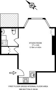Large floorplan for Sinclair Gardens, Brook Green, W14