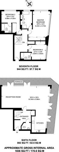 Large floorplan for Shad Thames, Bermondsey, SE1