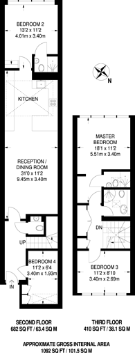 Large floorplan for Porchester Square, Queensway, W2