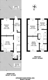 Large floorplan for Skiers Street, Stratford, E15