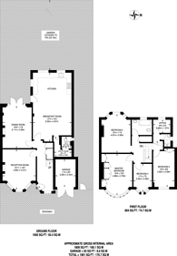 Large floorplan for Brycedale Crescent, Southgate, N14