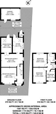 Large floorplan for Wellington Road, Bush Hill Park, EN1