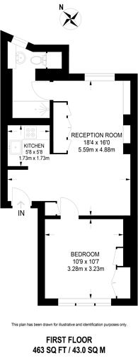 Large floorplan for Carrington Street, Mayfair, W1J
