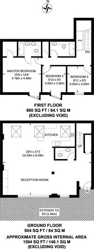 Large floorplan for Harlesden Road, Willesden, NW10
