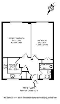 Large floorplan for Tintern House, Pimlico, SW1V