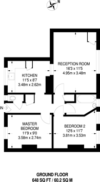 Large floorplan for Saunders Close, Limehouse, E14