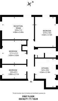 Large floorplan for Chapel Street, Marylebone, NW1