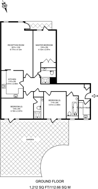 Large floorplan for Imperial Crescent, Imperial Wharf, SW6