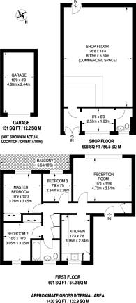 Large floorplan for Park Barn Parade, Guildford, GU2